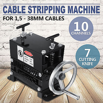 Manual Electric Wire Stripping Machine Recycle Tool 1.5-38mm Copper Peeling