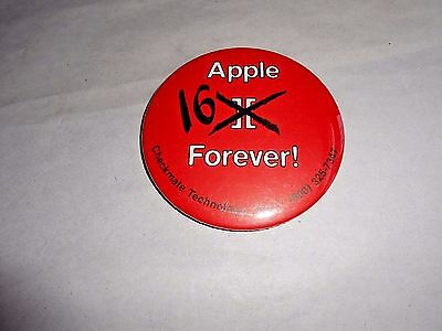 Vintage Apple 16 Forever! Computer Advertising Pinback Button