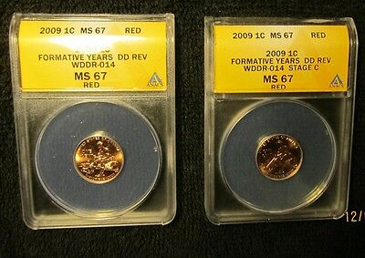 Matched Pair ANACS MS67 2009 FY WDDR-014 Cherrypickers FS-806 & Rare Stage Crack