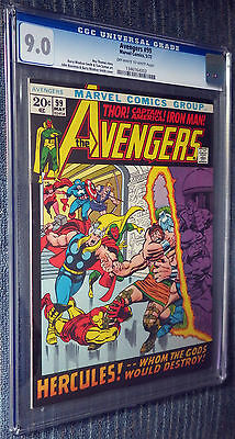 Avengers #99 CGC 9.0 White pages - Beautiful Barry-Windsor Smith artwork!