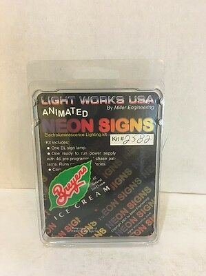 2582 Light Works USA Neon Signs For Train Layouts