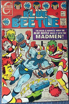 Blue Beetle #3 - Ditko! First appearance of The Madmen! Nice copy!