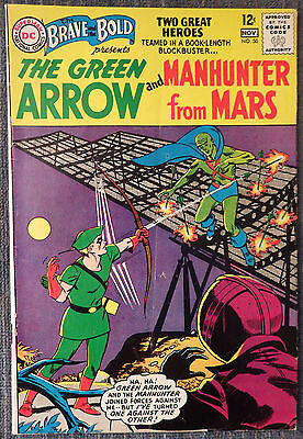 Brave and the Bold #50 - Green Arrow &  Manhunter from Mars - 1st Team-Up Issue!