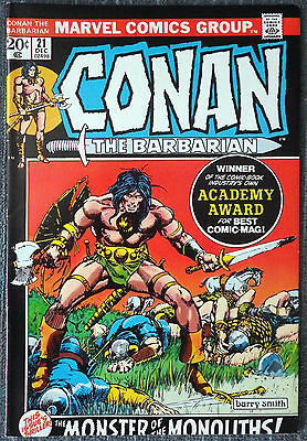 Conan the Barbarian #21 - The Monster of the Monoliths! Barry Windsor-Smith!
