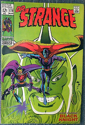 Doctor Strange #178 - The Black Knight! Gene Colan! Tom Palmer! Very nice copy!