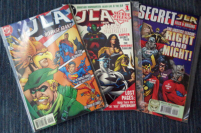 JLA SIX 80-Page Giants and Secret Files - High Grade!