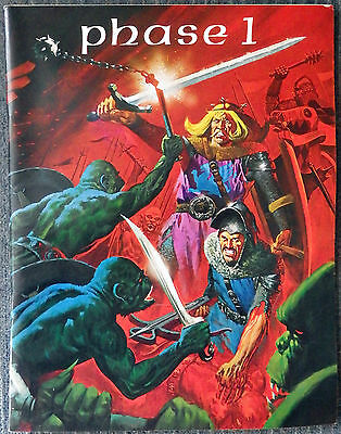 Phase 1 - Comic Art Fanzine 1971 Neal Adams Jeff Jones Wrightson Kaluta Brunner