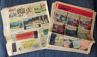 Prince Valiant - Terry & the Pirates - 1972 52 Sunday comic strips Foster Wunder