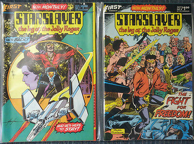 Starslayer #7 to #10 First Comics - Mike Grell! High Grade!