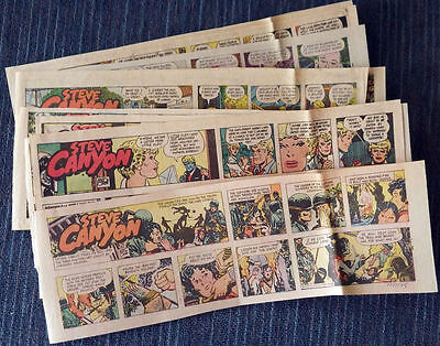 Steve Canyon 1975 36 Sunday comic strips - Milton Caniff
