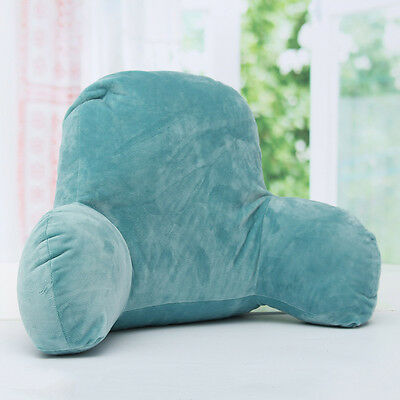 Blue Lounger Bed Reading Rest Back Pillow Support Arm TV Backrest Seat Cushion