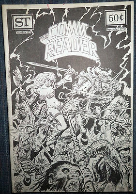 The Comic Reader #122 - 1975 Newzine - Frank Thorne cover of Red Sonja!
