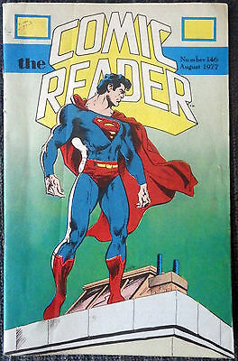 The Comic Reader #146 - 1977 Newzine - Don Newton cover of Superman! Don Rosa!