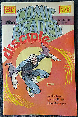 The Comic Reader #147 - 1977 Newzine - Marshall Rogers cover!