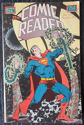 The Comic Reader #151 - 1977 Newzine - Jim Starlin cover of Superman!
