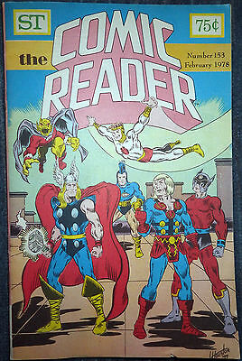 The Comic Reader #153 - 1978 Newzine - Larry Houston cover of Kirby heroes!
