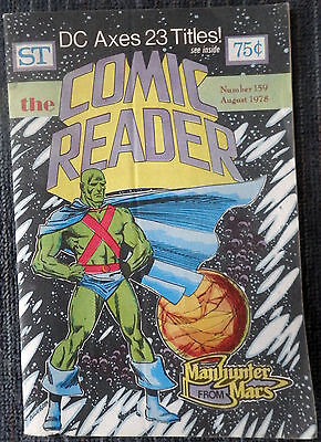 The Comic Reader #159 - 1978 Newzine - Al Milgrom cover of Manhunter from Mars!