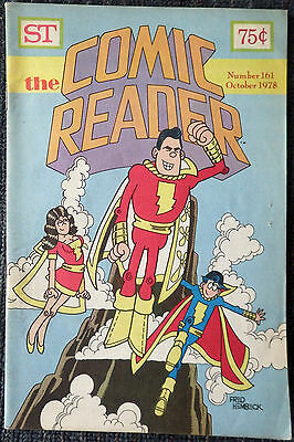 The Comic Reader #161 - 1978 Newzine - Fred Hembeck cover of the Marvel Family!