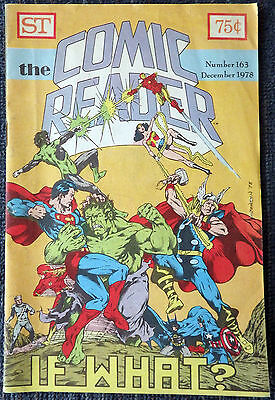The Comic Reader #163 - 1978 Newzine - Last issue in small format!