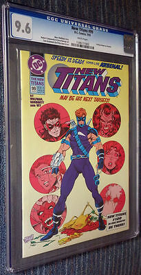 The New Titans #99 CGC 9.6 White Pages First Roy Harper as Arsenal!