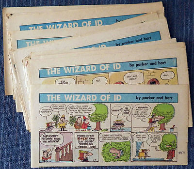 Wizard of Id 48 Sunday comic strips 1972 - Parker & Hart