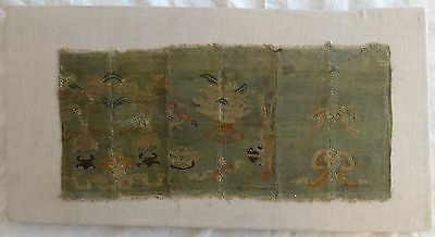 Very rare Chinese late Ming/early Qing dyn. silk embroidery panel.16th to 18th c