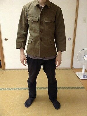 Rare AUTH Imperial  japanese army ww2 Type 98 army winter jacket Showa18 1943 6