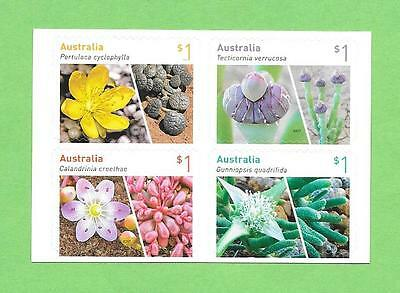 "2017 Good Find "" Succulents ""p&s ~ Block Of 4 From Booklet ~ Muh Bargain @ $4.80"
