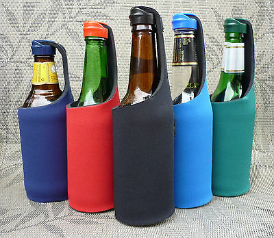 STUBBY HOLDER  / BEER MATE with Cap Lid - Stop bees & wasps - Various Colours
