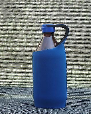 BEER MATE STUBBY / STUBBIE HOLDER - KOOZIE / COOLER - lid to protect - R Blue