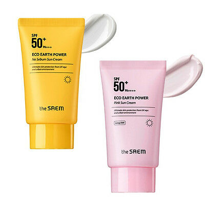 THE SAEM Eco Earth Power No Sebum / Pink Sun Cream SPF50+ PA++++ 50g / 1.76oz