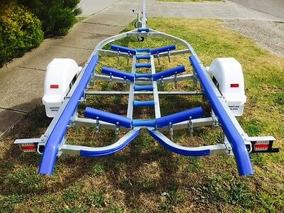 Precision boat trailer 5.2 mt ALLOY BOAT galvanised drive on. 14ft-16ft