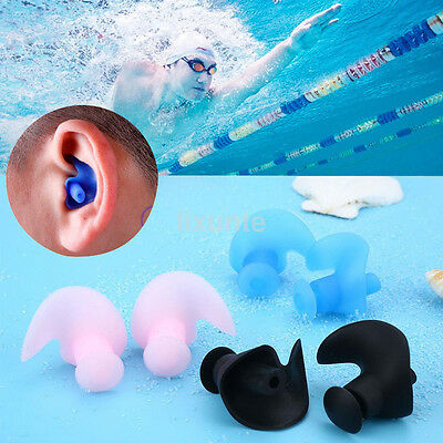 Waterproof Soft Silicone Swim Bath Diving Earplugs for Adult Swimmers Children