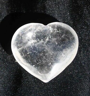 Clear Quartz Puff Heart, Large - Reiki / Massage
