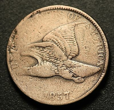 1857 FLYING EAGLE CENT - VF VERY FINE Details
