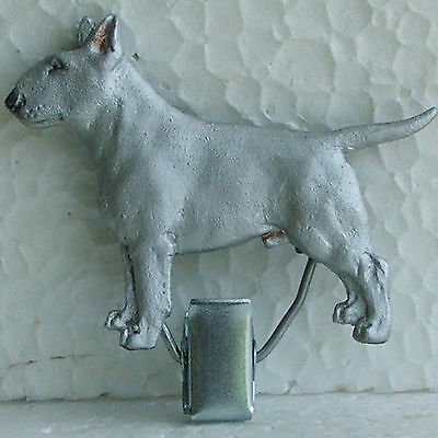English Bull Terrier White Show Ring Clip Dog Breed Jewellery Hand Painted