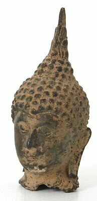 Antique 17th Century Laotian Bronze Buddha Head