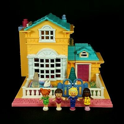 *COMPLETE* Polly Pocket 1994 LIGHT UP HOTEL Vintage Bluebird Yellow House Mini