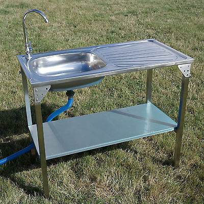 New OUTDOOR KITCHEN SINK CAMPING UNIT PORTABLE FOLDING IDEAL FOR BBQ FISHING GAR