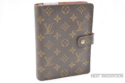 Authentic Louis Vuitton Monogram Agenda MM Day Planner Cover R20004 LV 33043