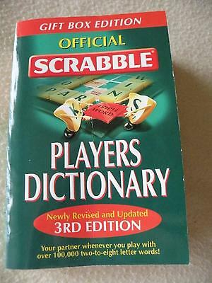 Official Scrabble Players Dictionary - Newly Revised & Updated 3rd Edition - VGC
