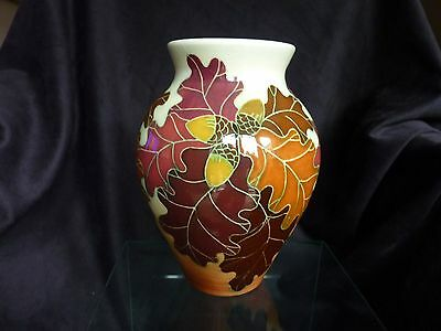 Dennis Chinaworks Autumn Oak pattern vase, No.10/40, The Neville Pundole Gallery
