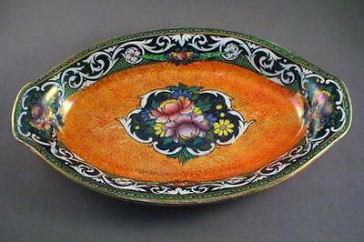 Vibrant Lustre Newhall Pottery Boumier Ware Oval Dish - Perfect