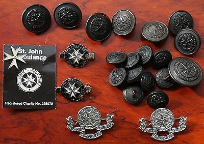 The St John Ambulance Association, assorted metal badges and plastic buttons