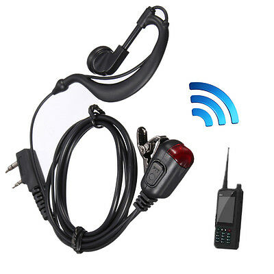 Security G-Shape Headset/Earpiece Mic For Two Way Radio Security Walkie Talkie