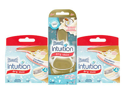 Wilkinson Sword Intuition Dry Skin Shaving Razor With 6 Blades Value Multipack