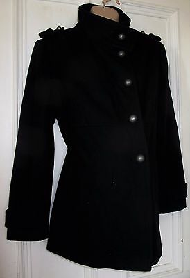 New M2B 18/46 Ladies Black Maternity Jacket/Military Funnel Neck Lapel Jacket