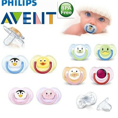 Philips Avent Orthodontic Dynamic Animal Dummy Pacifier Slicone Baby Soother