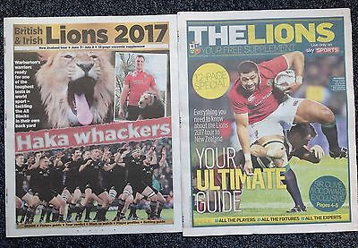 British & Irish Lions Rugby Union Tour 2017 Newspaper Pullout Guides Supplement
