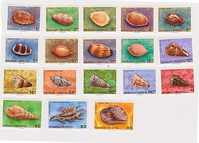 (K32-31) 1978 Samoa 18set of shell stamps 1c to $5 (A) MUH